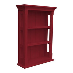 EuroLux Home - New Wall Cabinet Red Painted Hardwood Open - Product Details