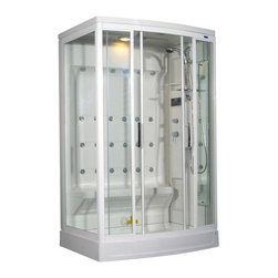 Ariel - Ariel ZA219 Steam Shower 52x40x86 - Right - These fully loaded steam showers include massage jets, ceiling & handheld showerheads, and built in radios to help maximize the therapeutic experience.