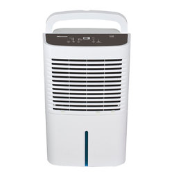 HISAC - 70 Pint Dehumidifier - The Hisense DH-70K1SJE5 Energy Star 70-Pint 2-Speed Dehumidifier is an affordable and eco-friendly dehumidifier for medium- to large-sized spaces and operates at temperatures as low as 38 degrees F. This Energy Star-qualified model removes 50 pints of damaging moisture per day from spaces up to 3500 square feet. Three operating modes (normal, continuous and auto dry) make it a versatile choice. During the dehumidification process, water accumulates in the tank or is automatically emptied into a drain using a drainage hose such as a standard garden hose (drainage hose not included). Additional features include a programmable timer, adjustable humidistat, and full-tank alert.Energy Star 2-speed (high/low) dehumidifier for spaces up to 3500 sq ft|Removes up to 70 pints of moisture from the air every 24 hours|Operates at very low temperature (38 Degrees F)|3 modes include normal, continuous and auto dry|Soft-touch electronic controls allows you easily to control the humidity level in your home|24-hour auto on/off timer|Digital display shows relative humidity, temperature and time|Auto restart restores unit to last setting used when power was disrupted|Full-tank indicator light alerts you to when the front-mounted water tank needs to be emptied|Automatic shut-off when 16-pint water tank is full|  dh-70k1sje5| dh70k1sje5| hisense| home| comfort| dehumidifier| 70-pint| 70| pint| pt| pt.  Package Contents: dehumidifier|service label|manual|warranty  This item cannot be shipped to APO/FPO addresses