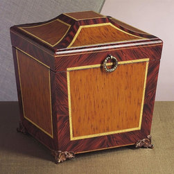Dessau Home - Footed Box - Made from wood and iron. 10.5 in. L x 10.5 in. W x 12 in. H