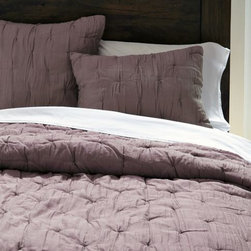 Stella Quilt, Sugar Plum - I'm in love with the plum color and the soft, almost-tufted texture here.