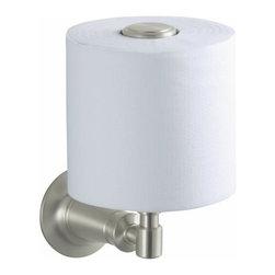KOHLER - KOHLER K-11056-BN Archer Vertical Toilet Tissue Holder - KOHLER K-11056-BN Archer Vertical Toilet Tissue Holder in Vibrant Brushed Nickel