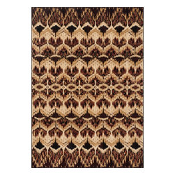 """Loloi Rugs - Loloi Rugs Vista Collection - Tan / Spice, 3'-9"""" x 5'-2"""" - Power loomed in Egypt, the Vista Collection offers striking pattern inspired by ethnic textiles. All nine designs share a color palette of desert hues like rust, taupe, and more on a 100% polypropylene fiber for strong durability. Available in six sizes including a scatter and a runner."""