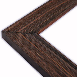 The Frame Guys - Sloped Rustic Walnut Picture Frame-Solid Wood, 16x16 - *Sloped Rustic Walnut Picture Frame-Solid Wood, 16x16