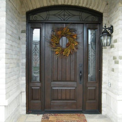 Rustic Collection Therma Tru Rustic Panels Mahogany