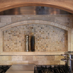 Traditional Kitchen Remodel - Arched niche by the range
