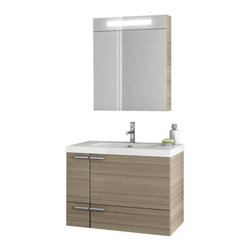 ACF - 31 Inch Larch Canapa Bathroom Vanity Set - Need a bath vanity? This one is a wall mounted contemporary & modern bathroom vanity that will fit perfectly into your contemporary bathroom.