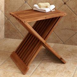 Home Accents - Folding Teak Shower Seat, Signature Hardware