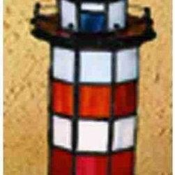 Meyda Tiffany - Meyda Tiffany 20538 Stained Glass / Tiffany Specialty Lamp Animal Sculp - Tiffany SculpturesTiffany Lighthouse Accent LampHilton Head1 Night-Lite bulb, 5w (max), 1 Candelabra bulb, 15w (max)
