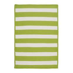 Stripe It, Bright Lime Rug, Sample Swatch
