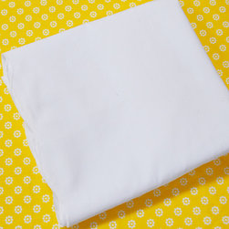 Oliver B - Sunshine Yellow 2-Piece Crib Bedding Set - Create a stunning space with Oliver B's Sunshine Yellow crib bedding set.  Includes a mod-dots crib sheet in yellow and white, and scallop flat panel crib skirt in white.