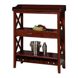 All Things Cedar - Wooden Wine Rack - Classic Accents: A truly inviting selection of Classic Accent Furniture FEATURING Console Sofa Tables Wooden Wine Magazine Racks, Nesting Tables, and Glass Cherry Curio Cabinates. Item is made to order.