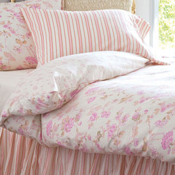 Elizabeth Allen Atelier Butter Elodie Duvet - Here's a completely feminine look to drive your men mad! Aren't those pink florals and stripes really cute?