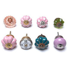 8 x Set Mixed Vintage Shabby Chic Cupboard Knobs Drawer Knobs Kitchen Knobs