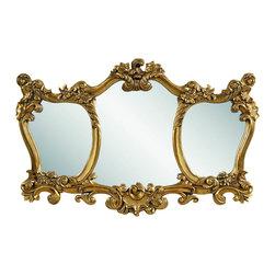 Bassett Mirror - Donatella Antique Gold Leaf Wall Mirror - Donatella Antique Gold Leaf Wall Mirror by Bassett Mirror