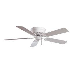"""Minka Aire - Minka Aire F565-WH 52"""" Flush Mount Ceiling Fan - Minka Aire F565-WH 52"""" Flush Mount Ceiling Fan"""