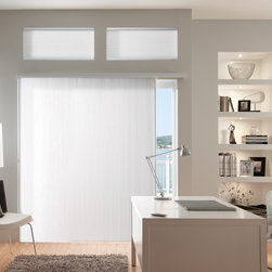 Bali Vertical Cellular Shades - Vertical Cellular shades are a sleek covering for sliding glass doors and are completely cordless!