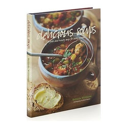 Delicious Soups Cookbook - Soups come in as many varieties as soup lovers, evidenced by Belinda Williams's imaginative collection of celebrated recipes from the Yorkshire Provender. Whether it's a warm soup for a cold day or a bowl of light refreshment on a summer's evening, a flavorful elixir awaits amid these 60-plus options from light to hearty, everyday to sophisticated. The ultimate comfort food found in virtually every culture, the soups in this book range from simple stocks to hearty fish stews to elegant velout�s to gourmet shooters. Recipes are divided into chapters on Stocks, Hearty and Wholesome, Smooth and Creamy, A Little Special, and International Flavors.