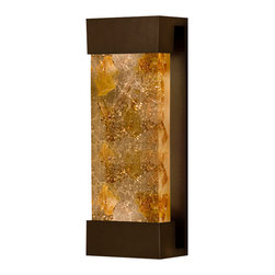 Fine Art Lamps - Crystal Bakehouse Carnelian & Citrine Crystal Sconce, 810950-11ST - With this sconce, you can have the shimmer of carnelian and citrine crystal inside or out. The hand-crafted, polished block of natural minerals sits snugly in a metal frame, emitting a warm glow.