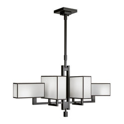 Black + White Story Chandelier, 734040-6ST
