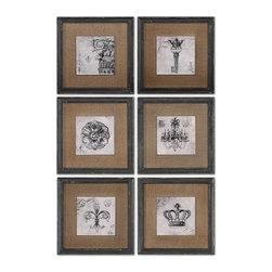 Uttermost - Uttermost 55000 Symbols Wall Art Set - Uttermost 55000 Symbols Wall Art Set