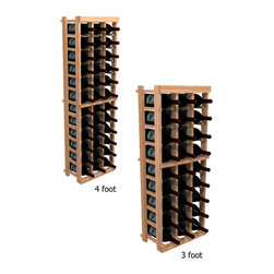 """Wine Cellar Innovations - Three Column Individual; WineMaker: Rustic Pine, Light Stain - 3 Ft - Each wine bottle stored on this three column individual bottle wine rack is individually cradled. All WineMaker wine racks must be mounted 1 1/2"""" off the wall to ensure proper wine bottle stability. Assembly Required."""
