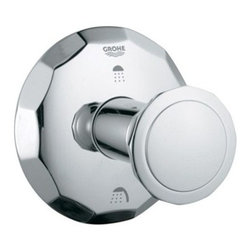 GROHE - Grohe Kensington 3-Port Diverter Trim - Starlight Chrome - When used in conjunction with the required volume control valve, the GROHE Kensington Volume Control Trim Kit functions as an on/off and volume control to a single outlet. Does NOT control water temperature. If temperature control is needed, please add a thermostatic trim kit and valve.Trim kit includes exterior elements only. Interior plumbing not included. A trim kit is the perfect choice for a hassle-free upgrade or replacement without the added cost of new hardware. Includes only the exterior elements. Valves and plumbing not included. Available in multiple finishes. Features & SpecsKensington Round HandleCode Compliance ASME/ANSI A112.18.1M View Spec Sheet