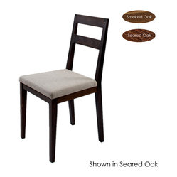 Caleb Dining Chair, Set of 2, Smoked Oak