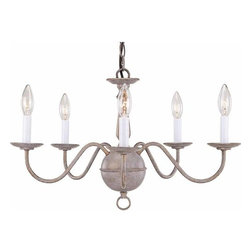 """Volume Lighting - Volume Lighting V4405 5 Light 14.25"""" Height 1 Tier Chandelier - Five Light 14.25"""" Height 1 Tier ChandelierSplendid and one-of-a-kind, this 5 light chandelier features 1 tier and a trendy prairie rock finish.Features:"""