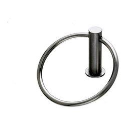 Top Knobs - Bath Ring - Brushed Satin Nickel (TKHOP5BSN) - Hopewell Bath Ring - Brushed Satin Nickel