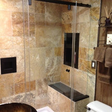 Modern Shower Doors by ATM Mirror and Glass