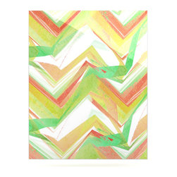 """Kess InHouse - Alison Coxon """"Summer Party Chevron"""" Metal Luxe Panel (24"""" x 36"""") - Our luxe KESS InHouse art panels are the perfect addition to your super fab living room, dining room, bedroom or bathroom. Heck, we have customers that have them in their sunrooms. These items are the art equivalent to flat screens. They offer a bright splash of color in a sleek and elegant way. They are available in square and rectangle sizes. Comes with a shadow mount for an even sleeker finish. By infusing the dyes of the artwork directly onto specially coated metal panels, the artwork is extremely durable and will showcase the exceptional detail. Use them together to make large art installations or showcase them individually. Our KESS InHouse Art Panels will jump off your walls. We can't wait to see what our interior design savvy clients will come up with next."""