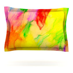 "Kess InHouse - Sreetama Ray ""Chemical Lovestory"" -Tags Pillow Sham (Cotton, 30"" x 20"") - Pairing your already chic duvet cover with playful pillow shams is the perfect way to tie your bedroom together. There are endless possibilities to feed your artistic palette with these imaginative pillow shams. It will looks so elegant you won't want ruin the masterpiece you have created when you go to bed. Not only are these pillow shams nice to look at they are also made from a high quality cotton blend. They are so soft that they will elevate your sleep up to level that is beyond Cloud 9. We always print our goods with the highest quality printing process in order to maintain the integrity of the art that you are adeptly displaying. This means that you won't have to worry about your art fading or your sham loosing it's freshness."