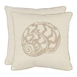 Safavieh - Palmer Accent Pillow - Orange,Gray - Palmer Accent Pillow - Orange,Gray
