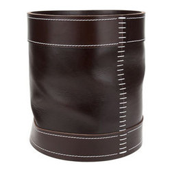 Arte & Cuoio Waste Basket - This leather wastebasket is so beautiful I'm not sure you'll want to put, you know, actual trash in it, but it is great for organizing and will add elegant style to your home office.