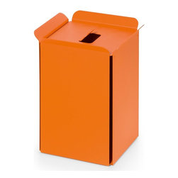 WS Bath Collections - Paper Basket in Orange - Paper basket/waste basket. Modern/contemporary design. Designer high end quality. Warranty: One year. Made from powder coated aluminum. Made in Italy. No assembly required. 10.2 in. L x 8.7 in. W x 12.8 in. H (5 lbs.). Spec SheetUnique and fine bath accessories and complements, that provide inspirational solutions for every decor.