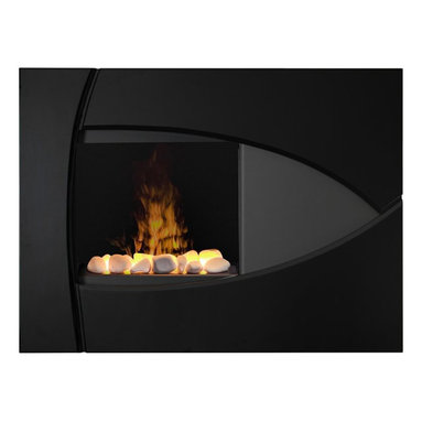 Dimplex - Dimplex Brayden Wall-Mount Fireplace - Dimplex - Electric Fireplaces - BBK20R - The stunning appearance of this European designed wall-mount fireplace will accent any room of a home. The gloss black and grey will fit contemporary decor or blend casually into a more traditional environment. The whisper quiet fan heater will add warmth to any 400 square foot room with ease.