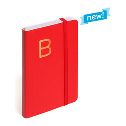 Personalized Soft Cover Notebook, Red, Small - Make a list, check it twice, this little notebook will make you look oh-so-nice.