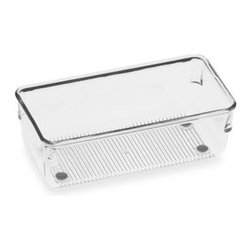 Interdesign - Acrylic Drawer Organizer - Acrylic drawer organizers provide a versatile modular system so you can create customize storage in any drawer. Sturdy plastic organizer has non-skid feet with chrome accents for a clean, stylish look.