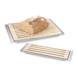 Zack Auteno Cutting Board with Tray - I really like the practical (and neat) aspect of this type of cutting board, collecting all of the bread crumbs without a mess, ready to toast or keep in the freezer to toast when you need them.
