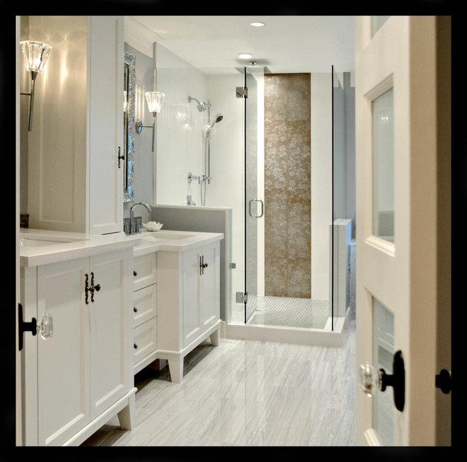 Traditional Bathroom by Enviable Designs Inc.