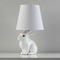 Abracadabra Bunny Lamp - Everyone loves a bunny, so why not in a lamp? Dress it up with a fun shade or keep it as is. I think it would look great in a kids' room or quirky living area.