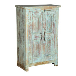 Sierra Living Concepts - Amish Reclaimed Wood Small Storage Cabinet End Table with 2 Doors - Made of reclaimed wood, this piece of art with two doors adds a rustic character as a end table or storage cabinet.This masterpiece of artisan craftsmanship is especially for the Eco-Friendly generation.The naturally aged/distressed hues on reclaimed wood has generations of history with it.