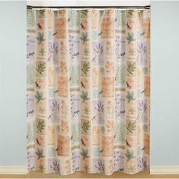 Saturday Knight Harmony Shower Curtain and 12-piece Hook Set -