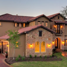 Mediterranean Exterior by Capstone Custom Homes