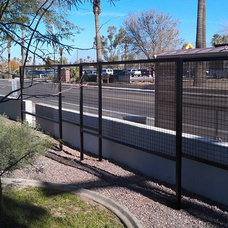 Contemporary Home Fencing And Gates by Ironic Metalworks LLC