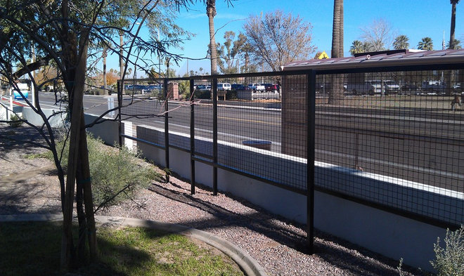Contemporary Fencing by Ironic Metalworks LLC