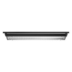 Juno Lighting - Trac-Master T5T42 4-ft T5HO Wall Wash/Flood Track Light, T5t42bl - The T5HO Close-to-Trac integrates the latest generation of ultra-compact, linear fluorescent lamps that are four times more efficient than halogen. A computer designed reflector maximizes optical efficiency and produces exceptional, uniform illumination of perimeter walls and displays. Its sleek profile is so shallow that it virtually blends in with the trac.
