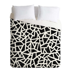 DENY Designs - DENY Designs Nick Nelson Frenetic Duvet Cover - Lightweight - Turn your basic, boring down comforter into the super stylish focal point of your bedroom. Our Lightweight Duvet is made from an ultra soft, lightweight woven polyester, ivory-colored top with a 100% polyester, ivory-colored bottom. They include a hidden zipper with interior corner ties to secure your comforter. It is comfy, fade-resistant, machine washable and custom printed for each and every customer. If you're looking for a heavier duvet option, be sure to check out our Luxe Duvets!