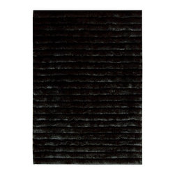 "Nourison - Nourison Urban Safari URBA1 3'6"" x 5'6"" Sable Area Rug 11020 - In moody hues of blackest brown, a fabulous shag design exudes a vintage vibe that's both chic and cozy. With its fashionable fur-like flair, luscious pile and soft sheen, this striking rug makes an eclectic style statement that feels as fantastic as it looks."